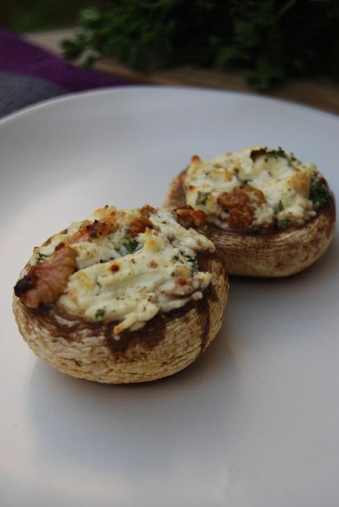 champignons chevre noix