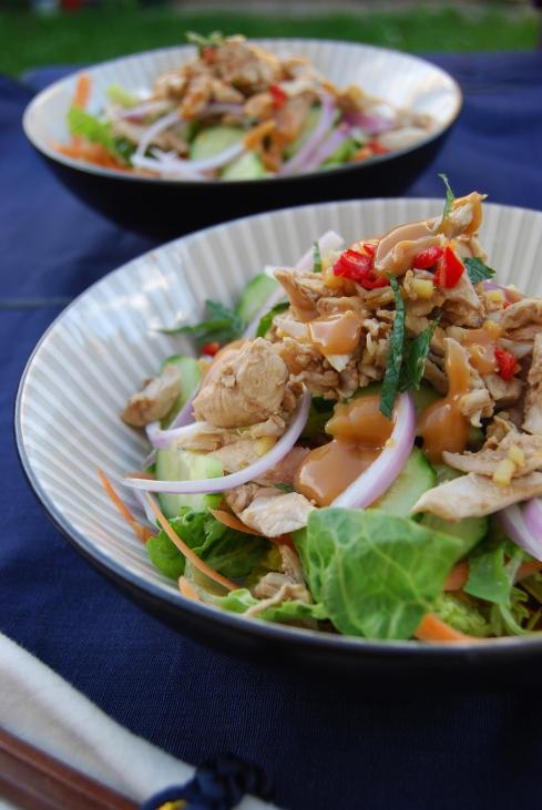 salade asiatique poulet - asian chicken salad