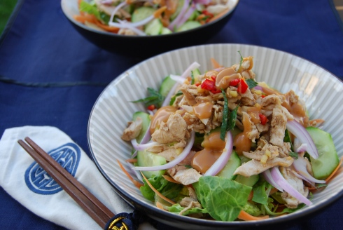 Asian Chicken salad - salade poulet
