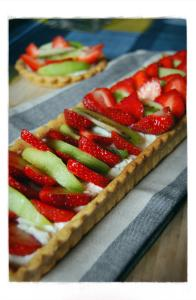 tarte fraise kiwi ricotta - Strawberry, kiwi, ricotta pie