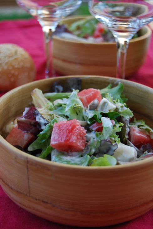 Blue Cheese Watermelon Salad