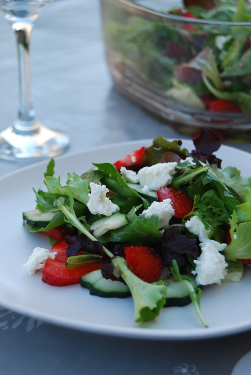 feta fraises - strawberry feta salad