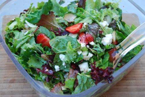 salade fraise feta
