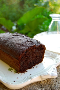 Chocolate & zucchini cake - cake chocolat courgette