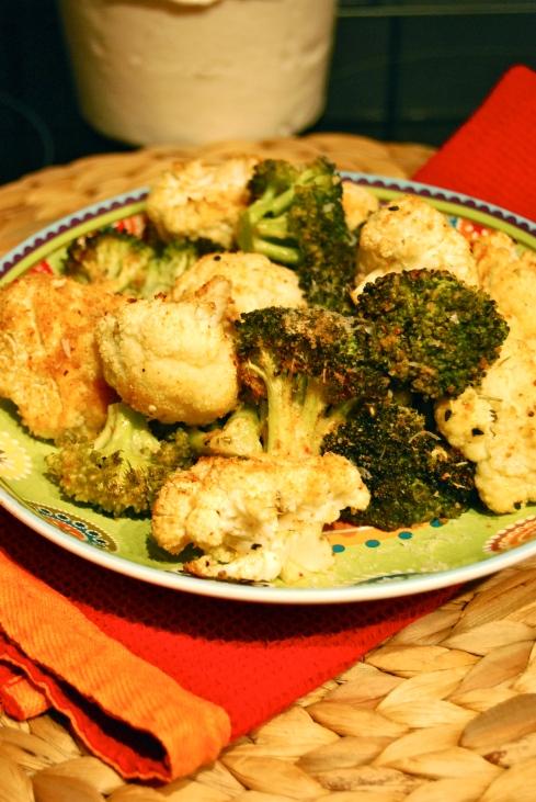 Crispy Oven Cauliflower & Broccoli - Chou Fleur et Brocoli croustillants