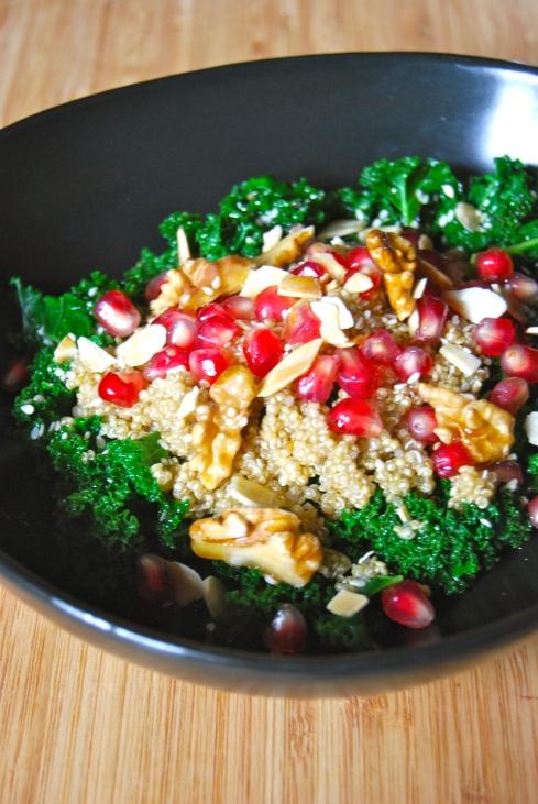 Kale, Quinoa and Pomegranate salad - Salade Kale, Quinoa et Grenade