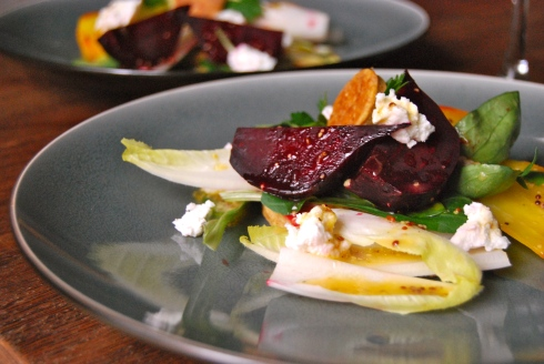 Beetroot, goat cheese and orange salad - Salade de betteraves, chèvre et orange