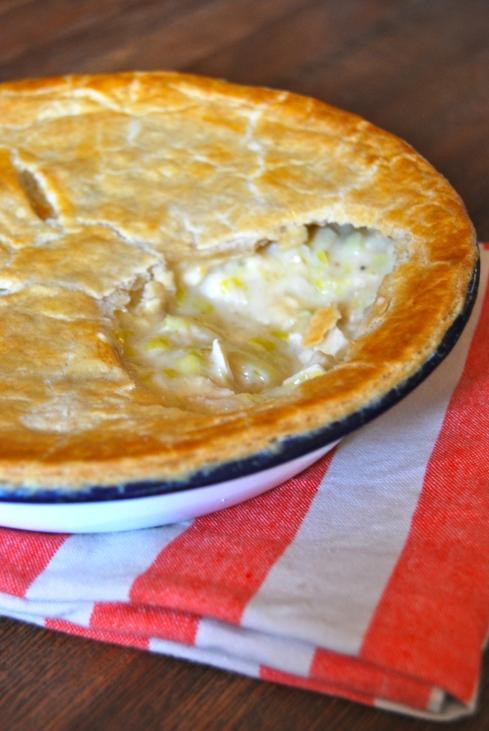 Chicken and Leek pot pie - Tourte poulet et poireau