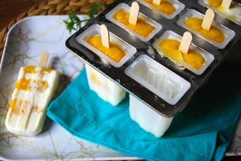 Mango, Lime and Yogurt Popsicles - Glaces Yaourt-Mangue-Citron vert