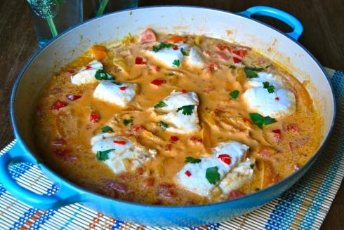 Moqueca de peixe - Fish stew from Brazil - Bahia - Ragoût de poisson Brésilien