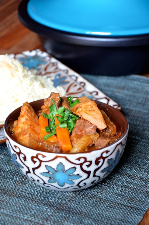 Quince and beef tajine - Morrocan recipe - Tagine boeuf et coing. Maroc