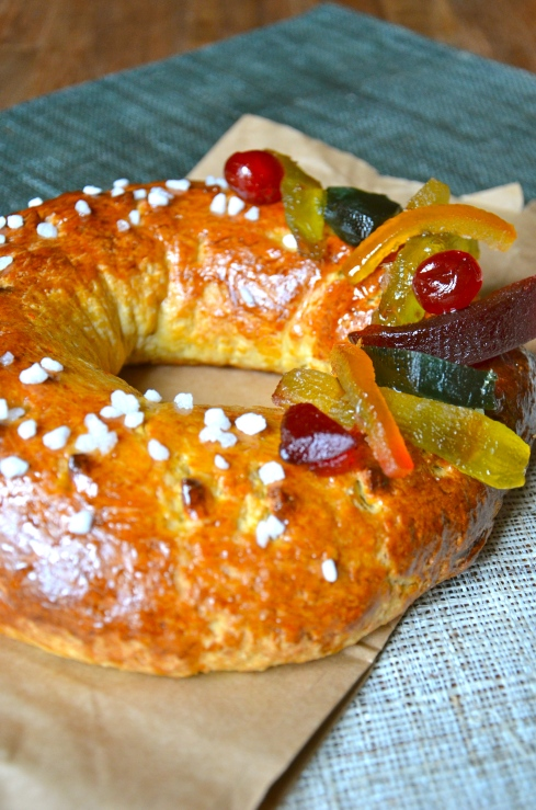 Brioche with candied fruits - Epiphany - Brioche des Rois aux fruits confits - Epiphanie