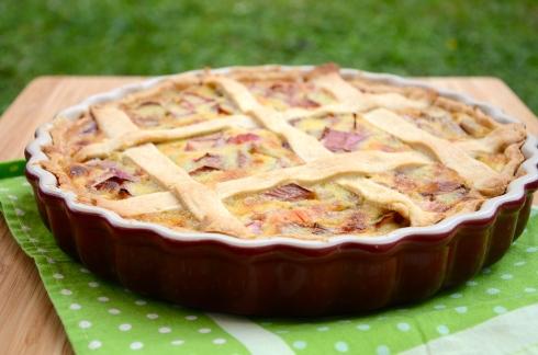 Rhubarb Pie - Tarte à la Rhubarbe
