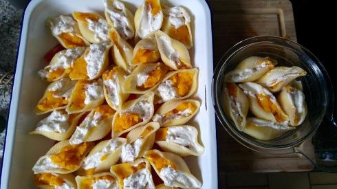 Pâtes farcies à la Courge Butternut et à la Ricotta - Butternut Squash and Ricotta stuffed Pasta