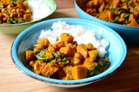 squash, chickpea & kale curry, Curry courge et pois chiche Automne - Fall