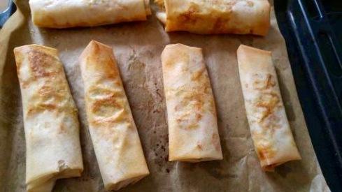 Rouleaux aux Poireaux, Truite Fumée et Kari Gosse - Leek, Smoked Trout and Kari Gosse Rolls