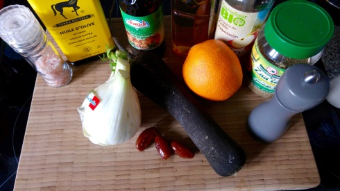 salade fenouil, radis noir et orange - fennel, black radish and orange salad - My Cooking Instinct