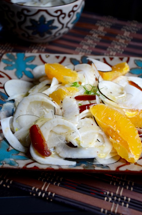 salade fenouil, radis noir et orange - fennel, black radish and orange salad - My Cooking Instinct